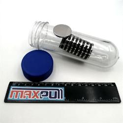 Неодимовые магниты 30х3 мм, диски, MaxPull, набор 10 шт. в тубе - фото 10000
