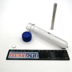 Неодимовые магниты 10х2 мм, диски, MaxPull, набор 50 шт. в тубе - фото 10026