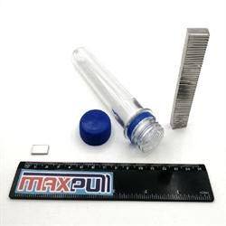Неодимовые магниты 15х8х2 мм, прямоугольники, MaxPull, набор 50 шт. в тубе - фото 10213