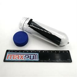 Неодимовые магниты 20х6х2 мм, N50 (black), прямоугольники, MaxPull, набор 50 шт. в тубе - фото 10266