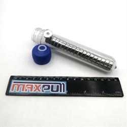 Неодимовые магниты диски 15х5 мм с зенковкой 4,5/10, MaxPull, набор 20 шт. в тубе - фото 10356