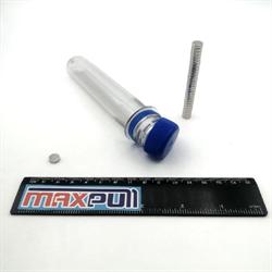 Неодимовые магниты 9х2 мм, диски, MaxPull, набор 50 шт. в тубе - фото 10472