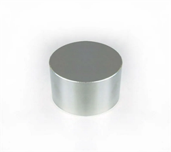 Неодимовый магнит 45х25 мм, диск, Zn - фото 10597