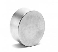 Неодимовый магнит 40х20 мм, диск, Zn - фото 10600