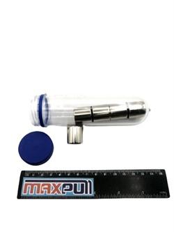 Неодимовые магниты 20х20 мм, диски, MaxPull, набор 5 шт. в тубе - фото 10633