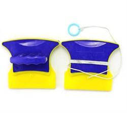 Магнитная щетка для окон (желто-синяя) Китай - фото 6688