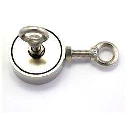 Поисковый магнит F-100х2, двухсторонний, (сила сц. 100 кг) - фото 8021