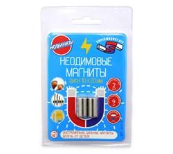 Блистер Неодимовые магниты прутки 10х20 мм - 2 шт - фото 8317