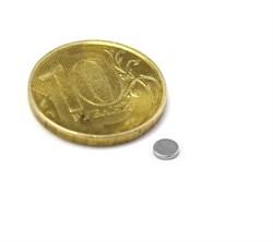Неодимовый магнит диск 5х1 мм - фото 8573