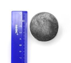 Неодимовый магнит 45х30 мм, диск - фото 8578