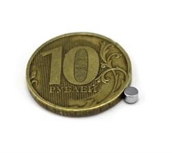Неодимовый магнит диск 3х2 мм - фото 8594