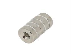 Неодимовый магнит диск 15х5 мм с зенковкой 4,5/10 - фото 8743