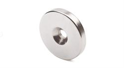Неодимовый магнит диск 20х3 мм с зенковкой 4,5/10 - фото 8762