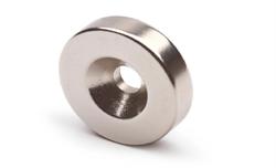 Неодимовый магнит диск 25х3 мм с зенковкой 4,5/7,5 - фото 8785
