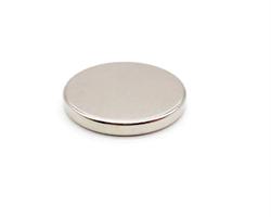 Неодимовый магнит диск 40х5 мм - фото 8792