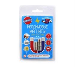 Блистер Неодимовые магниты диски 10х10 мм - 5 шт - фото 9049