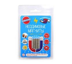 Блистер Неодимовые магниты диски 5х2 мм - 90 шт - фото 9059