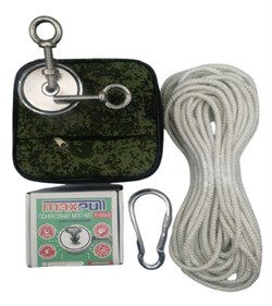Комплект: Поисковый магнит F-120х2 MaxPull + сумка + веревка 20м - фото 9357