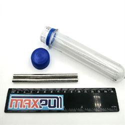 Неодимовые магниты 6х2 мм, диски, MaxPull, набор 100 шт. в тубе - фото 9874