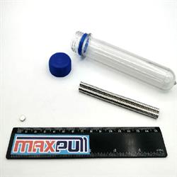 Неодимовые магниты 5х2 мм, диски, MaxPull, набор 100 шт. в тубе - фото 9886
