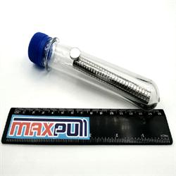 Неодимовые магниты 12х3 мм, диски, MaxPull, набор 30 шт. в тубе - фото 9972