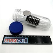 Неодимовые магниты 30х3 мм, диски, MaxPull, набор 10 шт. в тубе