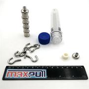 Магнитные крепления с крючком E20, MaxPull, набор 6 шт. в тубе