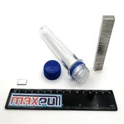 Неодимовые магниты 15х8х2 мм, прямоугольники, MaxPull, набор 50 шт. в тубе