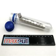 Неодимовые магниты 10х10х10 мм, прямоугольники, MaxPull, набор 10 шт. в тубе