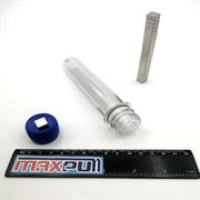 Неодимовые магниты 10х10х4 мм, прямоугольники, MaxPull, набор 25 шт. в тубе