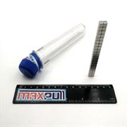 Неодимовые магниты 5х5х5 мм, прямоугольники, MaxPull, набор 40 шт. в тубе