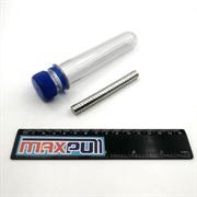 Неодимовые магниты 10х5 мм, диски, MaxPull, набор 20 шт. в тубе
