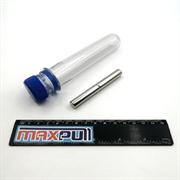 Неодимовые магниты 10х40 мм, прутки, MaxPull, набор 2 шт. в тубе