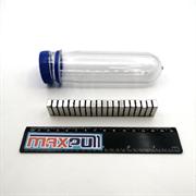 Неодимовые магниты 20х10х2 мм, прямоугольники, MaxPull, набор 50 шт. в тубе