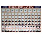 """Плакат """"Витрина с магнитами"""" на самоклеющейся пленке 900х600 мм"""