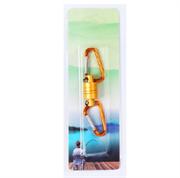 Магнитная застежка для рыбалки, цвет желтый