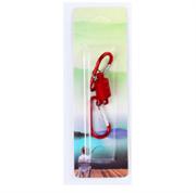 Магнитная застежка для рыбалки, цвет красный