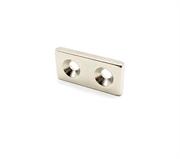 Неодимовый магнит призма 25х12х3 мм с двумя зенковками 3,5/7 мм