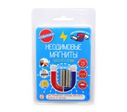 Блистер Неодимовые магниты диски 8х2 мм - 25 шт