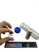 Неодимовые магниты диски 25х3 мм с зенковкой 4,5/7,5, MaxPull, набор 20 шт. в тубе
