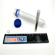 Неодимовые магниты 10х3 мм, диски, MaxPull, набор 30 шт. в тубе