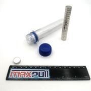 Неодимовые магниты 15х5 мм, диски, MaxPull, набор 20 шт. в тубе