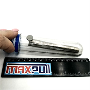 Неодимовые магниты 12х2 мм, диски, MaxPull, набор 50 шт. в тубе