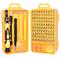 Многофункциональный набор магнитных отверток 110 предм., желтый - фото 7715
